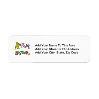 Awesome Brother T-shirts and Gifts Return Address Label