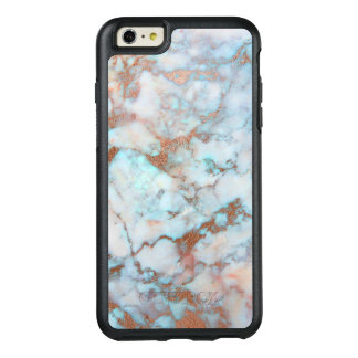 Awesome Brown And Light Blue Marble Stone OtterBox iPhone 6/6s Plus Case