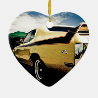 Awesome Buick GSX Muscle Car Ceramic Heart Ornament