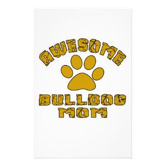 AWESOME BULLDOG MOM CUSTOM STATIONERY