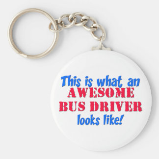 Awesome Bus Driver Keychain