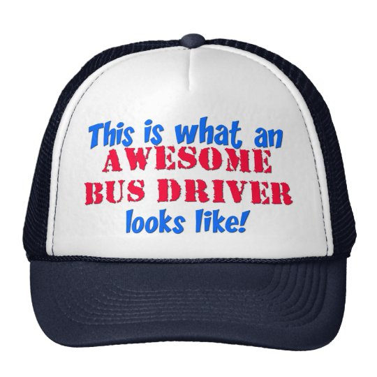 Awesome Bus Driver Trucker Hat