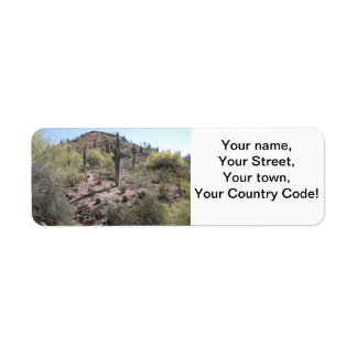 Awesome Cactus Garden Return Address Label