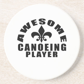 AWESOME CANOEING PLAYER DRINK COASTER