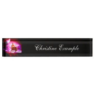 Awesome centaur in the night desk nameplate