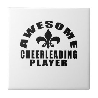 AWESOME CHEERLEADING PLAYER CERAMIC TILE