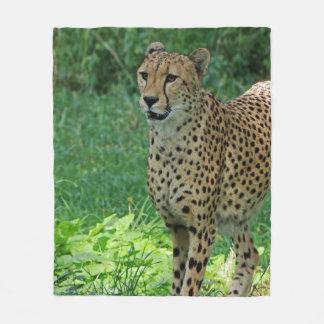 Awesome cheetah fleece blanket