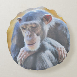 awesome chimp 1016 round pillow