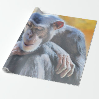 awesome chimp 1016 wrapping paper