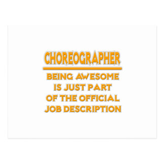 Awesome Choreographer .. Job Description Postcard