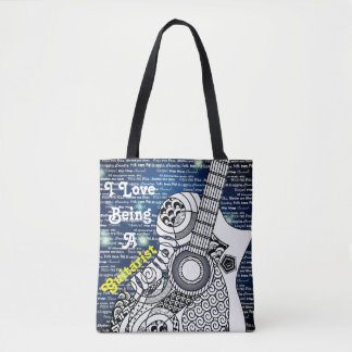 Awesome Color On I Love Being A Guitarist Tote Bag