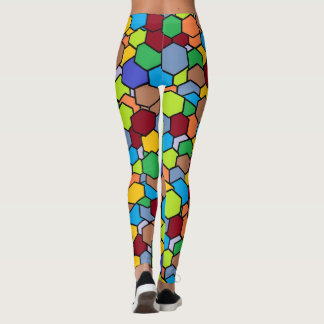 Awesome Colorful Hexagon Pattern Leggings