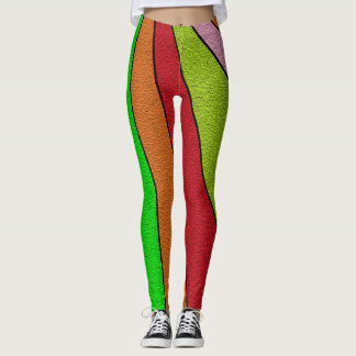 Awesome Colorful Striped Pattern Leggings