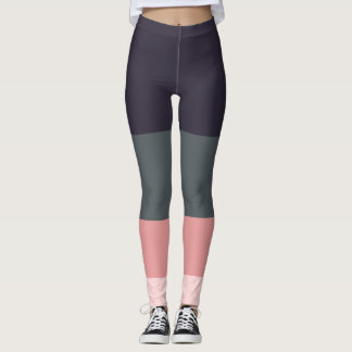Awesome Colour panel striped leggings