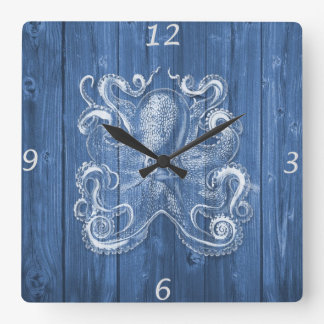 awesome cool Antique effect white octopus Wall Clock