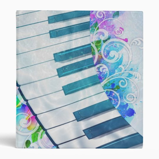 Awesome cool blue circular  piano light effect vinyl binders