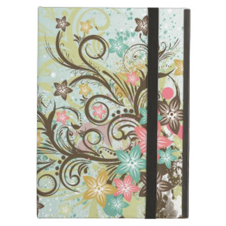 Awesome cool swirls dots leaves splatters flowers cover for iPad air