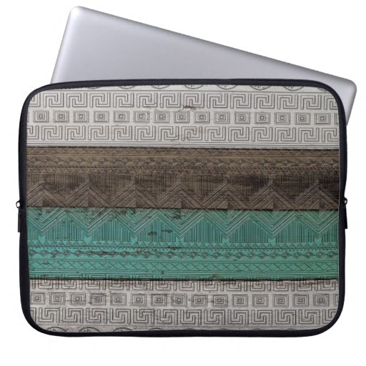 Awesome cool trendy Aztec geometric pattern Computer Sleeve