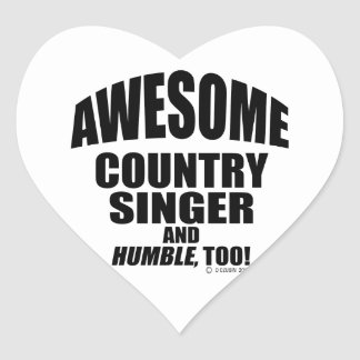 Awesome Country Singer Heart Stickers