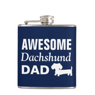 Awesome Dachshund Dad Flask Wiener Dog