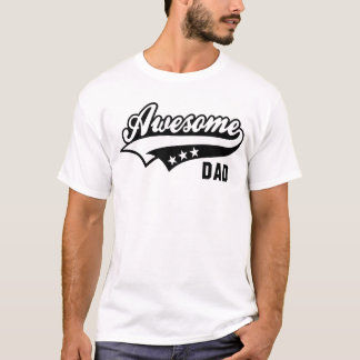 Awesome DAD 3Star T-Shirt BW