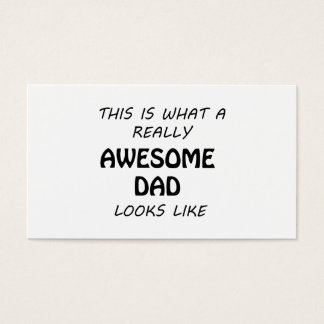 Awesome Dad Business Card