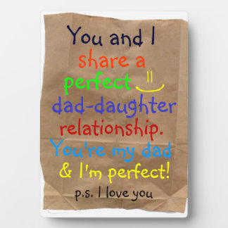 awesome dad-daughter relationship plaque