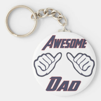 Awesome Dad Hands Pointing Fathers Day Papa Daddy Keychain