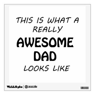 Awesome Dad Wall Sticker