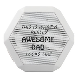 Awesome Dad White Bluetooth Speaker