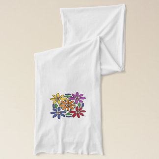Awesome Daisy Floral Art Abstract Scarf