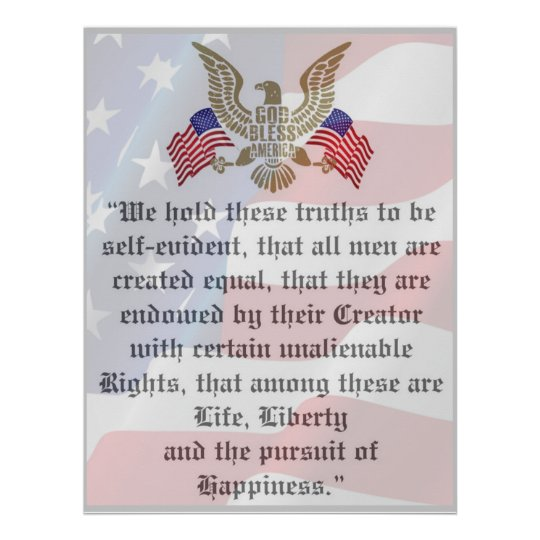 Awesome declaration of independence Patriotic Poster