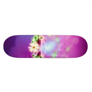 Awesome diamond with flowers and draganflies skateboard decks