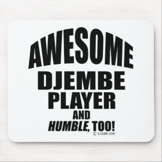 Awesome Djembe Player Mouse Pad