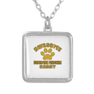 AWESOME DOBERMAN PINSCHER DADDY SILVER PLATED NECKLACE