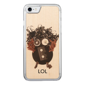Awesome Emoji Analog Media LOL Handmade Carved iPhone 7 Case