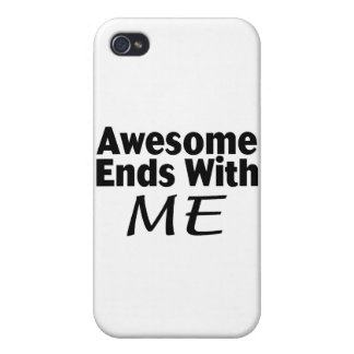 Awesome Ends With Me Cover For iPhone 4