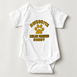 AWESOME ENGLISH FOXHOUND DADDY BABY BODYSUIT