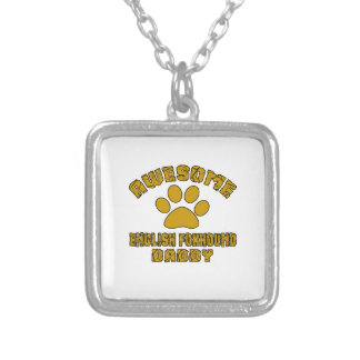 AWESOME ENGLISH FOXHOUND DADDY SILVER PLATED NECKLACE