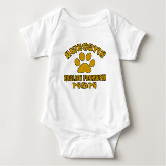 AWESOME ENGLISH FOXHOUND MOM BABY BODYSUIT