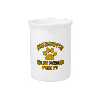 AWESOME ENGLISH FOXHOUND MOM BEVERAGE PITCHER
