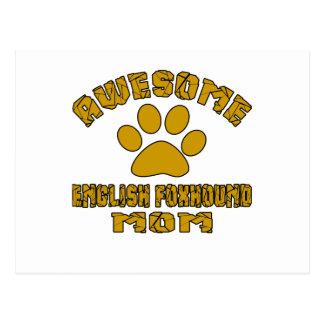 AWESOME ENGLISH FOXHOUND MOM POSTCARD