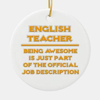Awesome English Teacher .. Job Description Ceramic Ornament
