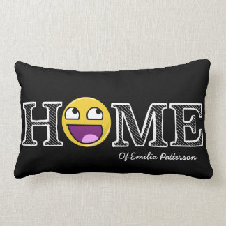 Awesome Face Awesome Home Housewarming Lumbar Pillow