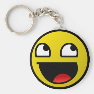 Awesome Face! Basic Round Button Keychain