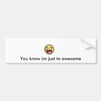 Awesome Face Bumber Sticker Bumper Sticker