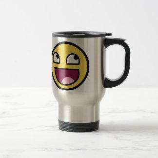 Awesome Face Smiley Travel Mug
