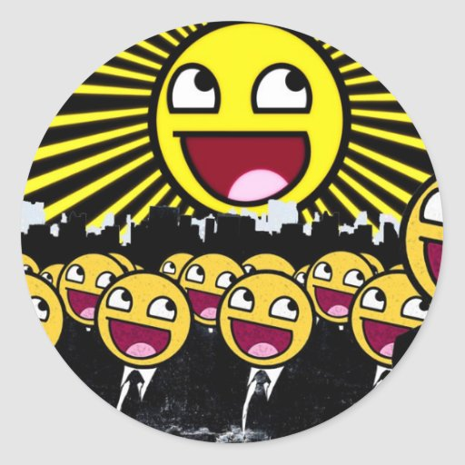 Awesome Face Round Stickers