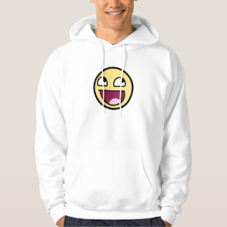 Awesome Face White Hoodie
