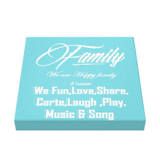 Awesome Family Canvas